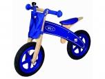 Dětské odrážecí kolo odrážedlo dřevěné modré Bino 3782705