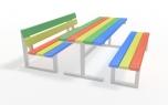Dětské posezení lavičky se stolem Rumcajs