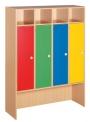 Dětský dřevěný šatní čtyřblok bez zámků - M20.111