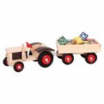 Dětský dřevěný traktor s vlekem na hraní 3782077
