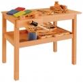 Dětský dřevěný truhlářský stůl se svěrákem 0D301