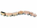 Dětský dřevěný Vlak přírodní 544630