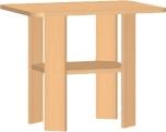 Dětský konferenční stolek čtvercový 60x60 cm 0L041M