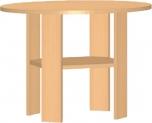 Dětský konferenční stolek  kulatý průměr 70 cm 0L040M