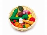 Dětský košík s ovocem a zeleninou na hraní 542952
