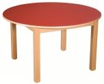 Dětský kulatý dřevěný stůl s masivní podnoží průměr 100 cm - x16.5XX.barva