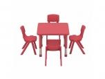 Dětský plastový čtvercový stolek stůl 62x62 cm výškově stavitelný