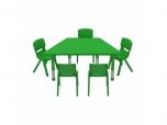 Dětský plastový lichoběžníkový stolek stůl výškově stavitelný
