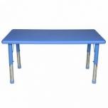 Dětský plastový obdélníkový stolek stůl výškově stavitelný