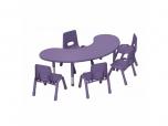 Dětský plastový stolek stůl velký ledvinka rohlík výškově stavitelný