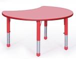 Dětský plastový stůl speciální tvar Měsíc výškově stavitelný