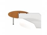 Doplňkový stůl levý, léta napříč Cross CP 22 L N pr.120x75,5x(80x60) cm (ŠxVxH)