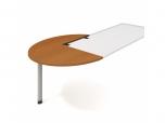 Doplňkový stůl levý, léta podél Cross CP 22 P N pr.120x75,5x(80x60) cm (ŠxVxH)