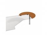 Doplňkový stůl pravý Flex FP 21 P pr.100x75,5x(60x60) cm (ŠxVxH)
