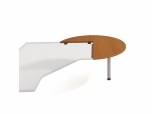 Doplňkový stůl pravý, léta napříč Flex FP 22 P N pr.120x75,5x(60x80) cm (ŠxVxH)