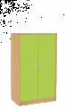Dřevěná dětská skříň široká s dveřmi střední výška