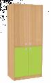 Dřevěná dětská skříň široká s rozdělenými dveřmi vysoká