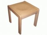 Dřevěná dětská stolička HOCKER mořený sedák - C17.026
