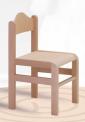 Dřevěná dětská židle Tom s krempou 1125 - mořený opěrák