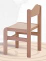Dřevěná dětská židle Tom s krempou mořený sedák a opěrák