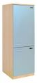 Dřevěná lednice s mrazákem 0L064M