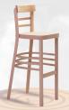 Dřevěná ohýbaná barová židle Marona Bar 5192