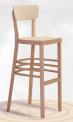 Dřevěná ohýbaná barová židle Nico Bar 5196