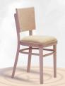 Dřevěná ohýbaná židle čalouněná Linetta P 2194
