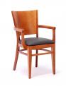 Dřevěná ohýbaná židle čalouněná s područkami Arol P AL