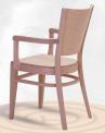 Dřevěná ohýbaná židle s područkami Arol AL 1197