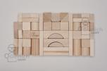 Dřevěné kostky přírodní, 33 mm, 50 kusů
