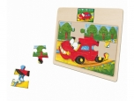 Dětské dřevěné puzzle AUTO autíčko 3788087