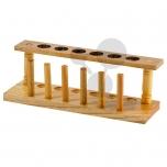 Dřevěný stojan na 6 zkumavek, 20 mm