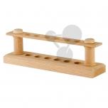 Dřevěný stojan na 6 zkumavek, 12 mm