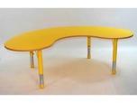 Dřevěný stůl ledvinka výškově stavitelný 165x100 cm