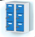 Dvoudílný plechový, šesti boxový minibox na soklu MB 20 2 3 O (56,7 cm)