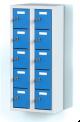 Dvoudílný plechový, deseti boxový minibox na soklu   MB 20 2 5 O (91,1 cm)