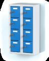 Dvoudílný plechový, osmi boxový minibox na soklu  MB 20 2 4 O (73,9 cm)