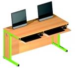 Dvoumístný počítačový stůl pro PC typu All in One nebo pro notebooky