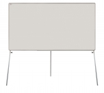 Flipchart (tabule) Duo L povrch emailový 150x100 cm