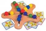 Dětská dřevěná hračka motorický hlavolam HVĚZDA 3784150