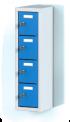 Jednodílný plechový, čtyř boxový minibox na soklu MB 20 1 4 O  (73,9 cm)
