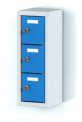 Jednodílný plechový minibox, tří  boxový na soklu  MB 20 1 3 O (56,7 cm)