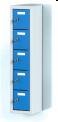 Jednodílný plechový, pěti boxový minibox na soklu  M2B 20 1 5 O (91,1 cm)