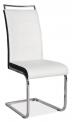 Jídelní židle H441- BÍLOČERNÁ