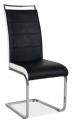 Jídelní židle H441- ČERNOBÍLÁ