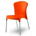 Jídelní židle plastová s hliníkovou konstrukcí 777-10 - VÝPRODEJ