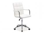 Kancelářská židle (křeslo) Q022 - bílá