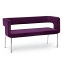 Konferenční luxusní dvoumístná lavice pohovka Next/2K - N4 - SLEVA nebo DÁREK a DOPRAVA ZDARMA
