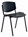 Konferenční plastová židle LAYER - BLACK27